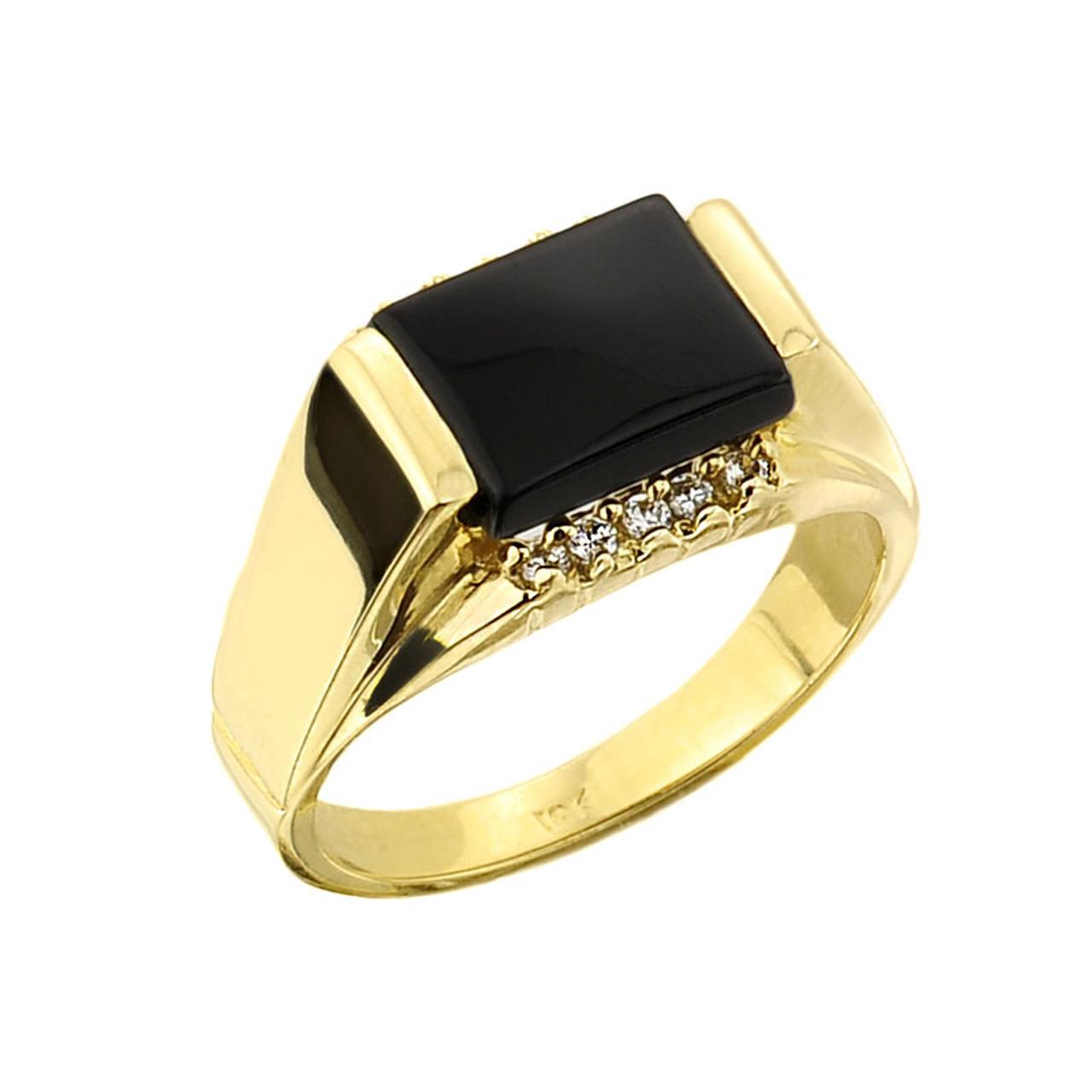 men 39 s gold black onyx ring. Black Bedroom Furniture Sets. Home Design Ideas