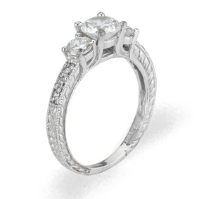 Ladies Cubic Zirconia Ring - The Sariah Diamento