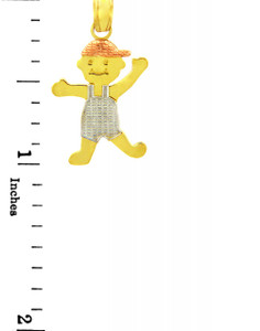 It's A Boy! Tri Color Gold  Charm