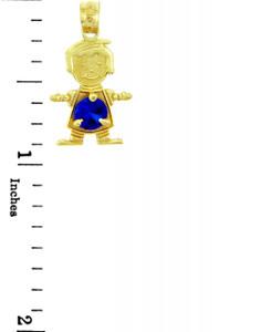 Baby Boy Blue Birthstone Charm
