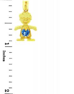 CZ Blue Birthstone Charm