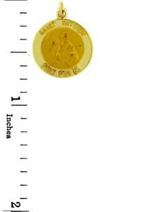 Gold Religious Pendants - The Saint Matthew Pray For Us Yellow Gold Pendant