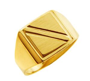 Solid Gold Men's Jove Signet Ring