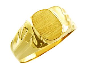 Men's Superior Solid Gold Signet Ring