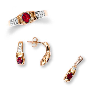 Gold Ruby Set