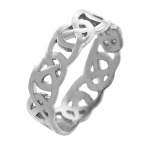 White Gold Quadrum Weave Ring for Women