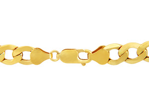 Gold Chains: Hollow Cuban 10K Gold Chain 4.73mm