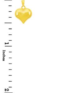 14K Yellow Gold Heart Pendant
