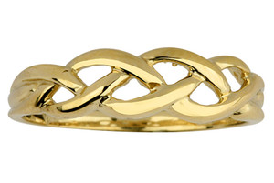 Gold Trinity Weave Ring