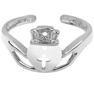 Silver Claddagh Toe Ring
