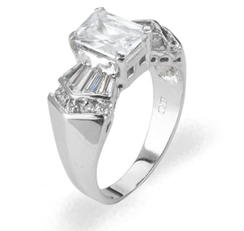 Ladies Cubic Zirconia Ring - The Maeve Diamento