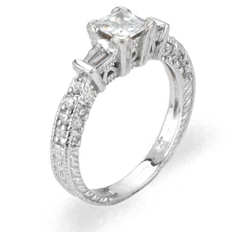 Ladies Cubic Zirconia  Ring - The Harmony Diamento