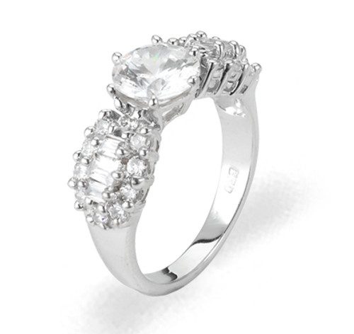 Ladies Cubic Zirconia Ring - The Haven Diamento