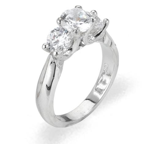 Ladies Cubic Zirconia Ring - The Uma Diamento