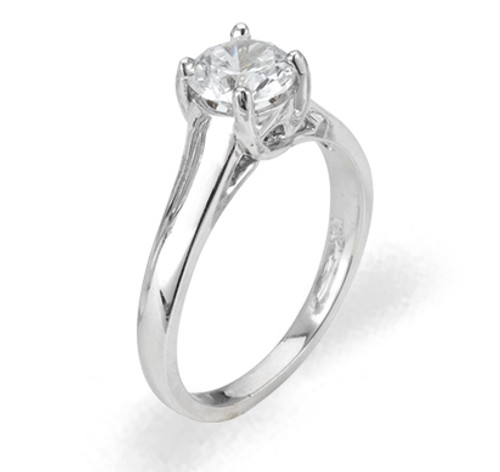 Ladies Cubic Zirconia Ring - The Naima Diamento