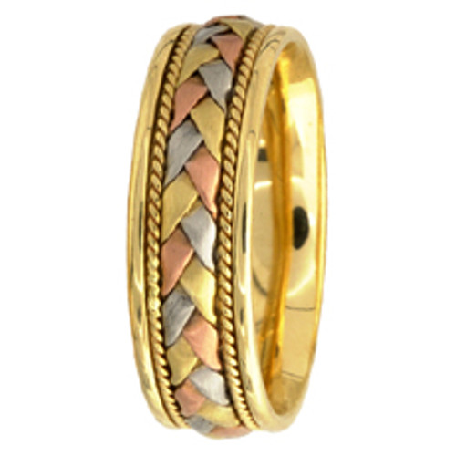 14k Gold Hand-Braided Wedding Band