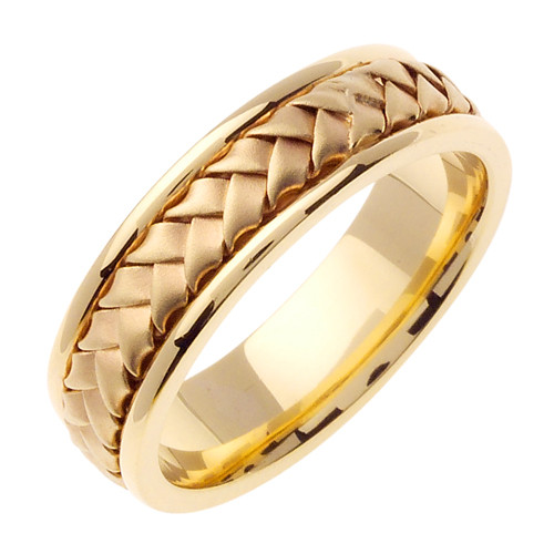 Hand Woven Gold Wedding Band