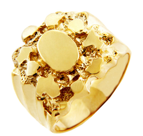 Men's Endure Solid Gold Nugget Ring
