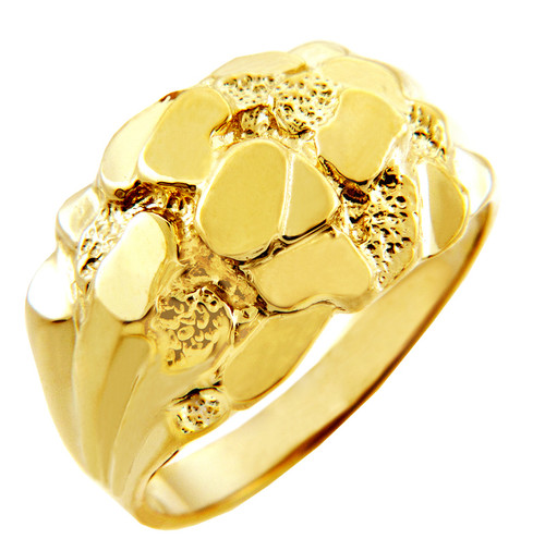 Men's Clint Solid Gold Nugget Ring
