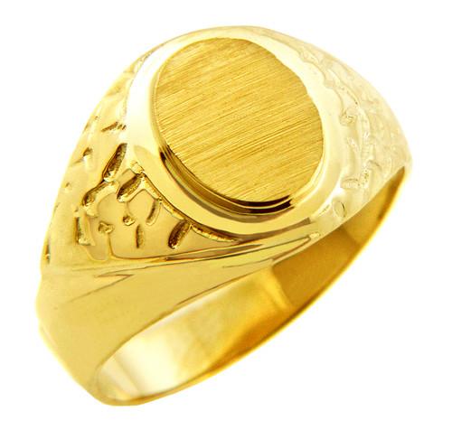 Men's Solid Gold Jovian Signet Ring