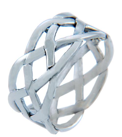 Men's Rings - Celtic Weave Band Ring Gold