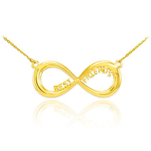 "14K Gold ""BEST FRIENDS"" Infinity Necklace"
