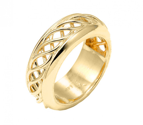 14k Gold Celtic Knot Wedding Band