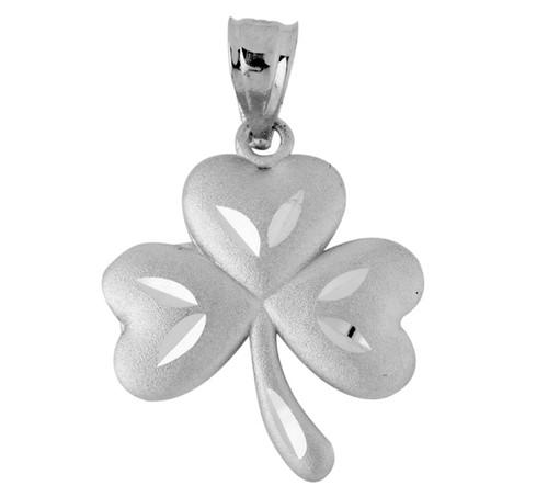 Clover Celtic Pendant in Silver