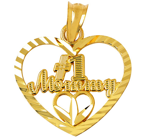 # 1 Mommy Gold Pendant