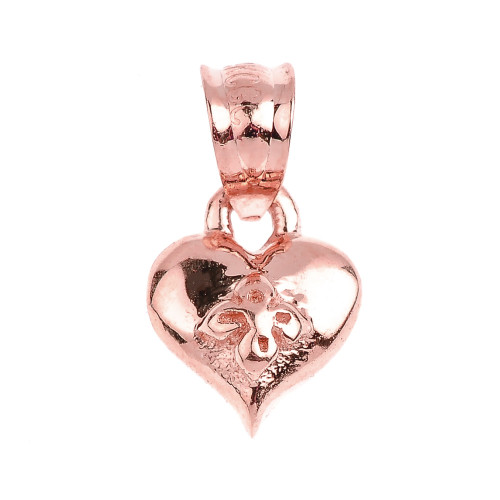 Rose Gold Baby Heart Charm Pendant Necklace