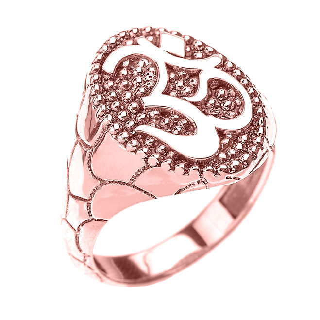 Rose Gold Nugget Band Om/Ohm Men's Ring