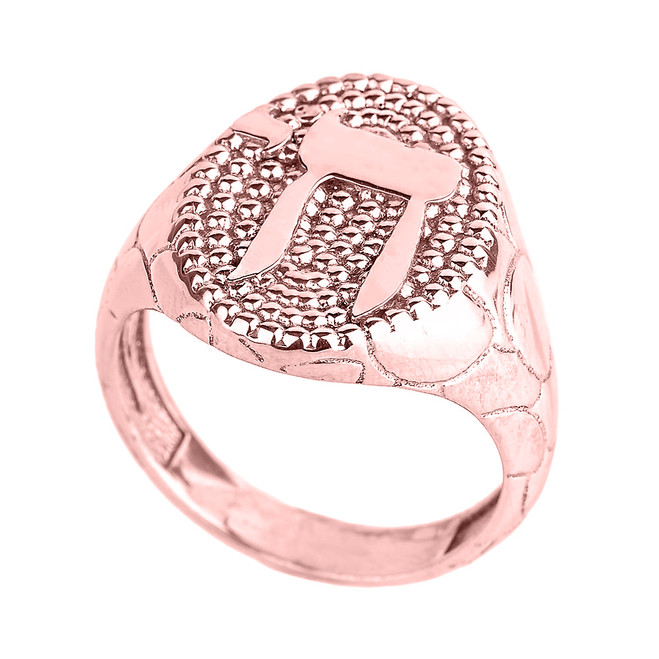 Rose Gold Chai Men's Ring