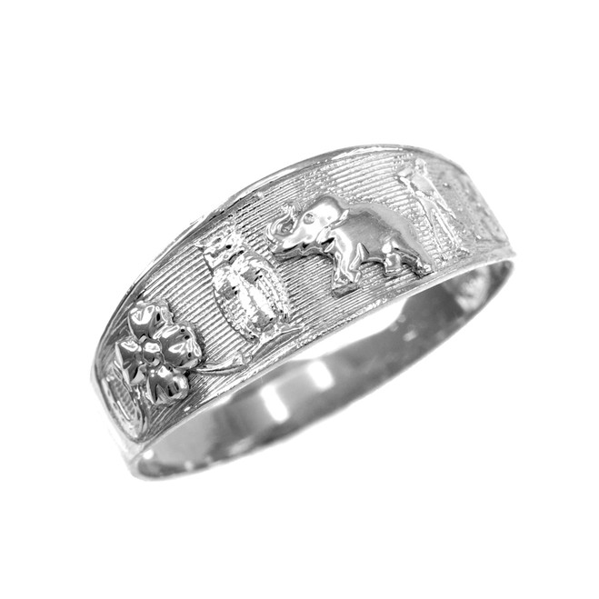 925 Sterling Silver Lucky Ring