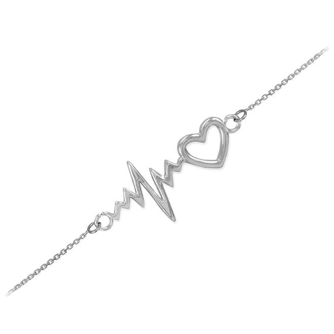 Sterling Silver Heartbeat Bracelet