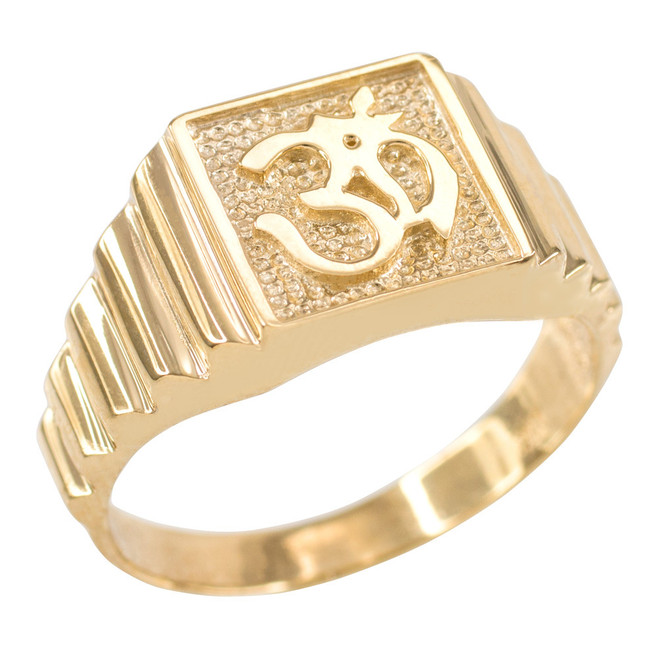 Gold Om Men's Ring
