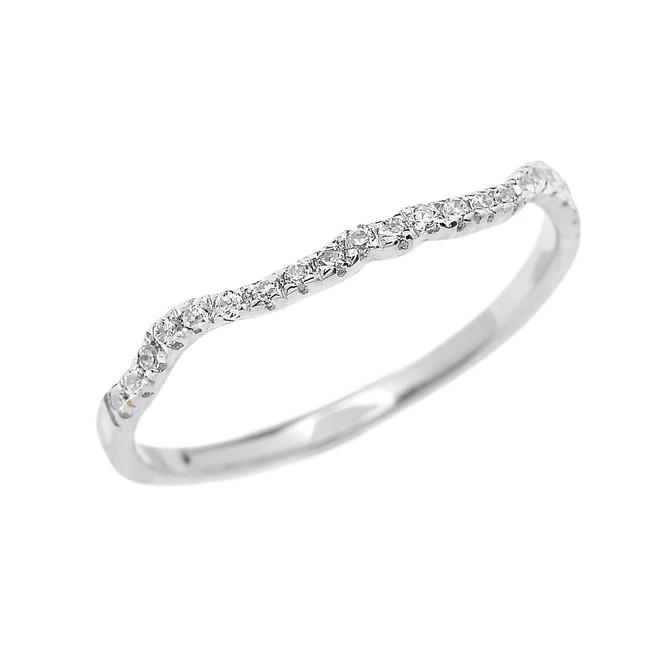 White Gold Diamond Dainty Matching Wedding Band