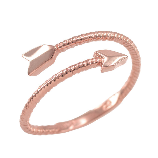 Rose Gold Arrow Wrap Ring for Women