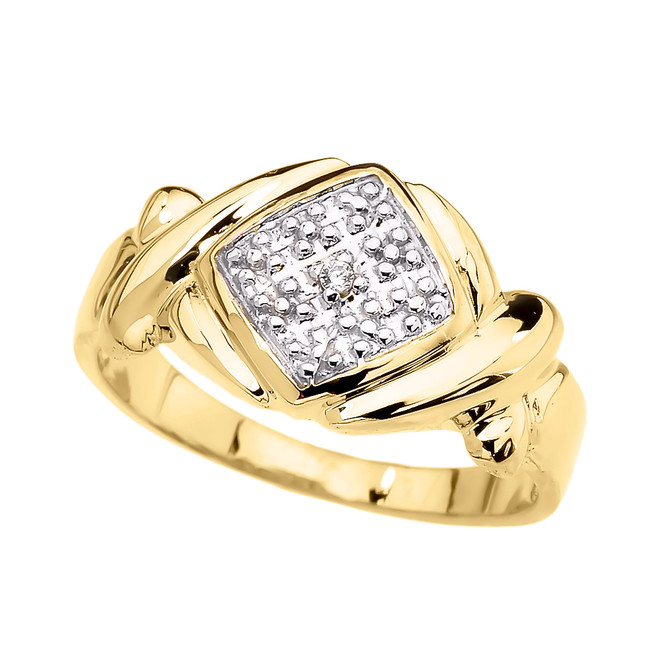 Yellow Gold Love Hugs and Kisses (XOXO) Unisex Ring