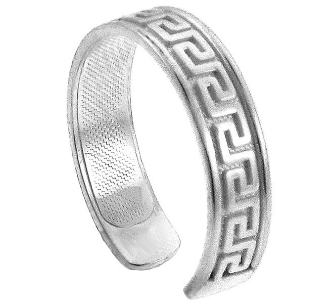Silver Greek Key Toe Ring