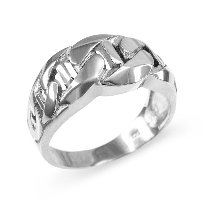Sterling Silver Mariner Link Chain Ring