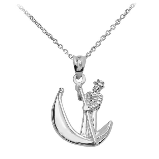 Sterling Silver Polished Gondola Pendent Necklace