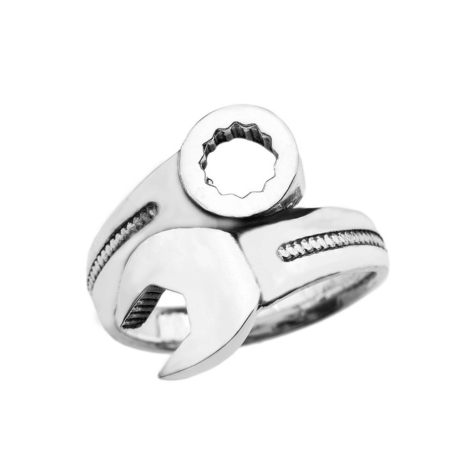 Mechanic Wrench Sterling Silver Bold Ring