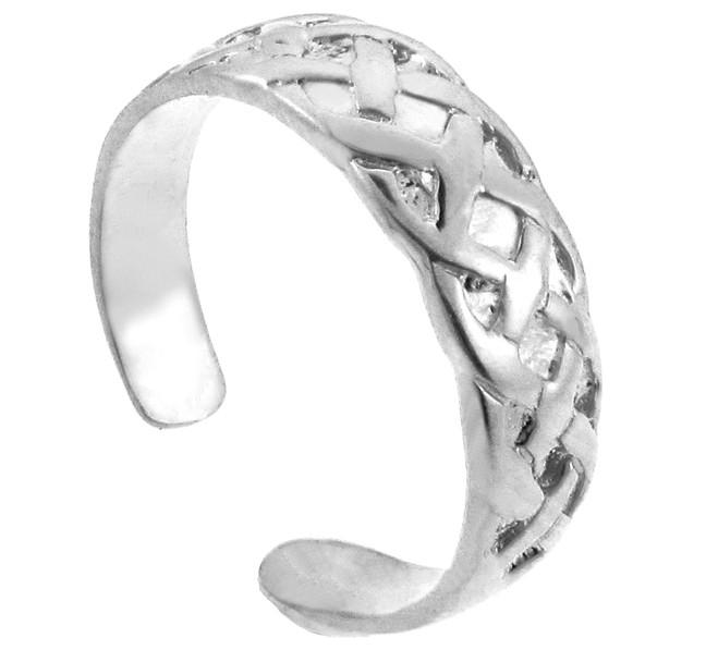 Bold Silver Trinity Knot Toe Ring