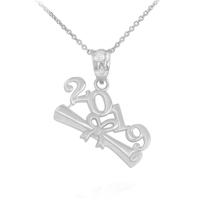 Sterling Silver Class of 2019 Graduation Pendant Necklace