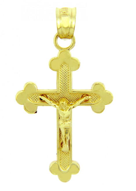 Yellow Gold Crucifix Pendant - The Blessed Trinity Crucifix