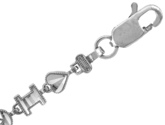 White Gold Bracelet - The I Heart U Bracelet