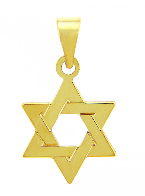 Jewish Charms and Pendants - 14K Yellow Gold Star of David Pendant