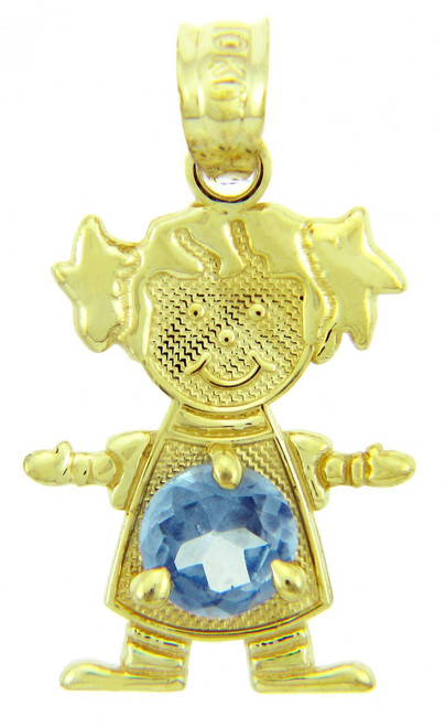 CZ Blue December Birthstone Charm