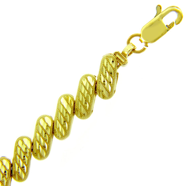Yellow Gold Bracelet - The Diagonal Bracelet