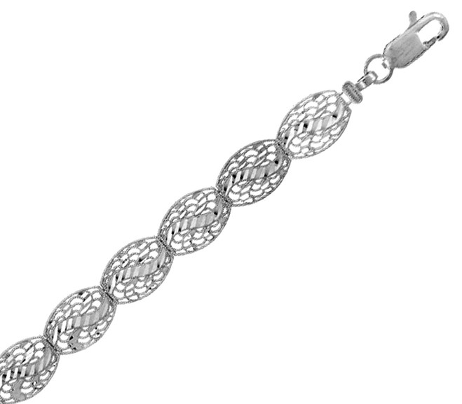 White Gold Bracelet - The Versaille Bracelet